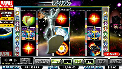 Silver Surfer free spins