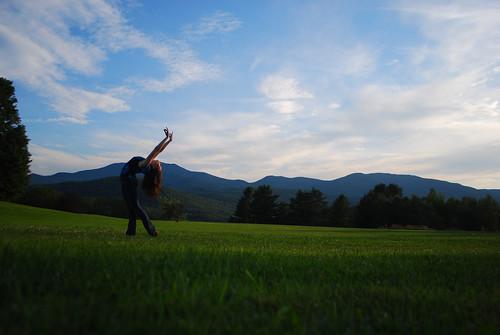 ballet green landscape scenery vermont dancer burklynballet