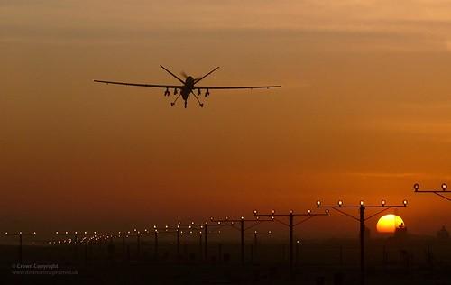 Reaper RPAS Aircraft Lands at Kandahar, Afghanistan