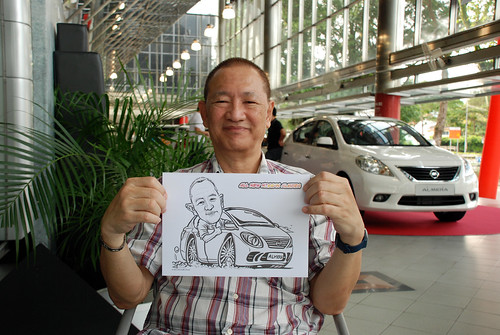 Caricature live sketching for Tan Chong Nissan Almera Soft Launch - Day 2 - 35