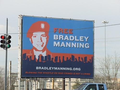 Free Bradley Manning Billboard