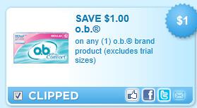 O.B. Brand Product Coupon