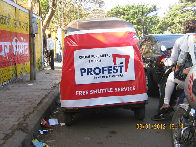 Free Shuttle Service! From the Parking to the Cash Counter of PROFEST 2012 The Biggest Pune Property Fair!