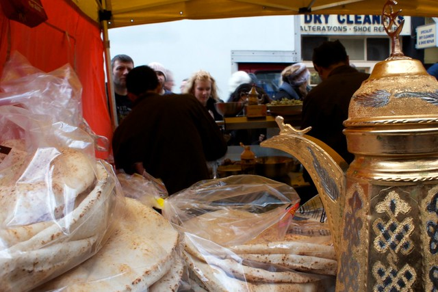 falafel wrap @ portobello road market