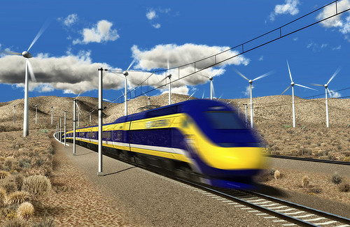 concept rendering of California high-speed rail (CA HSR Authority, via NC3D)