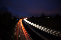 Light trails on the M1