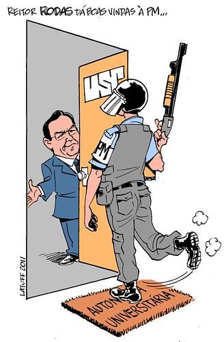 Rodas e a autonomia universitária, por Carlos Latuff
