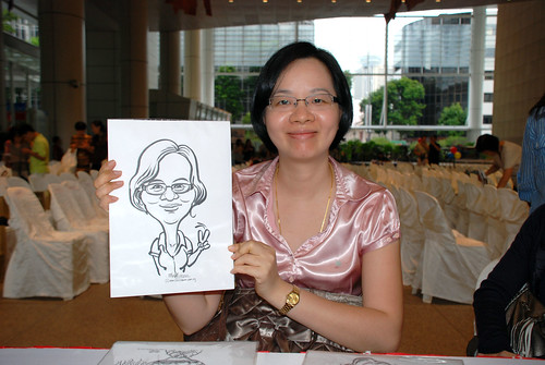 caricature live sketching for kidsREAD Volunteer Appreciation Day 2011 - 1