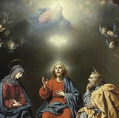 Carlo Dolci (1630), El Espíritu Santo y la Familia Sagrada