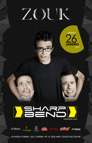 Flyer Sharp Bend - Zou Club by chambe.com.br