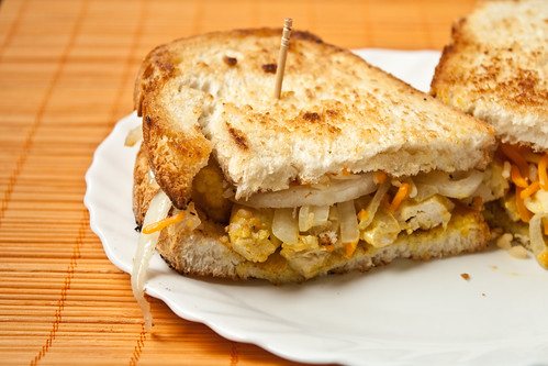 Chicken curry sandwich