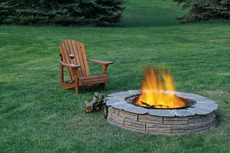 Outdoor Patio fire-pit with furniture