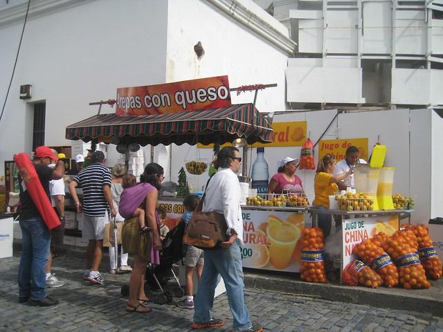 Arepas Con Queso & Freshly Squeezed Orange Juice