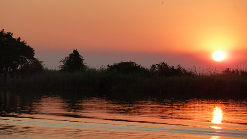 The sun at Chobe
