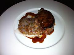 Black Foot Pork Chop: Spelt & Robert Sauce