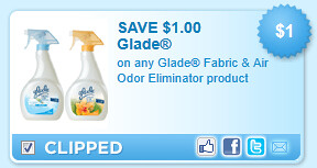 Glade Fabric & Air Odor Eliminator Product Coupon