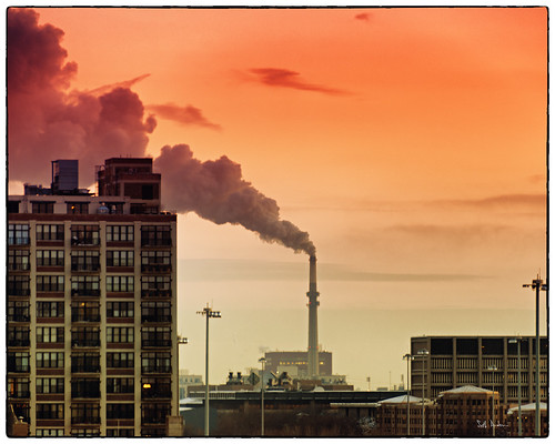 West Wing Blowing III (Fisk Coal Plant) via Flickr