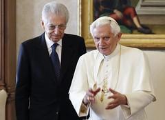 Primer Ministro italiano, Mario Monti, visita al Papa