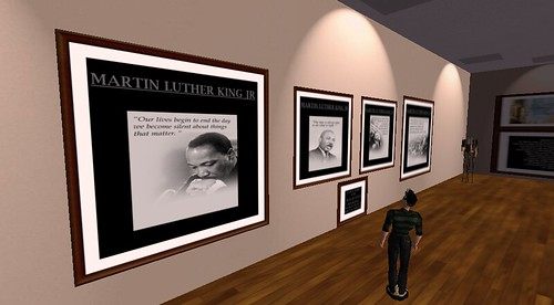 Martin Luther King Jr exhibit at African American Museum in Second Life
