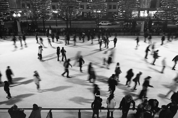 ice skating ...
