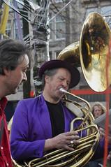 tuba(0.0), horn(0.0), sousaphone(1.0), musician(1.0), musical instrument(1.0), music(1.0), brass instrument(1.0),