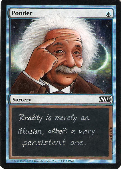 Ponder Magic the Gathering Art MTG card artwork Albert Einstein Magic Card Altered Art Magic