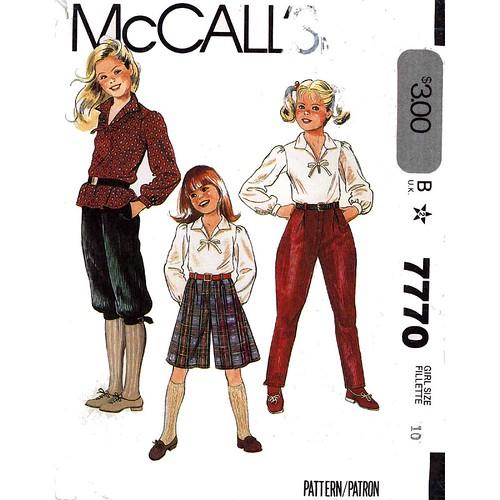 McCall's 7770 jodhpur pants