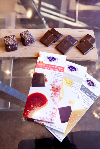Chocolates to sample and their new chocolate bar flavors