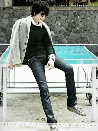 Park Shi Hoo 2012 Calendar: April
