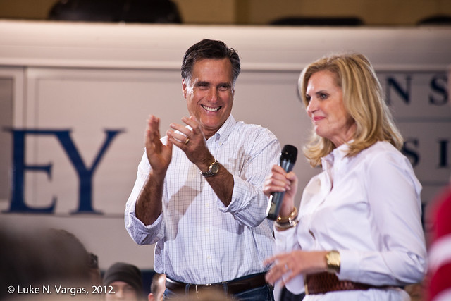 Mitt Cheers on Ann Romney