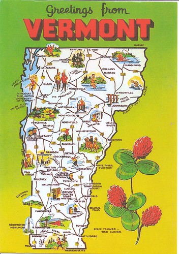 Vermont Mapcard