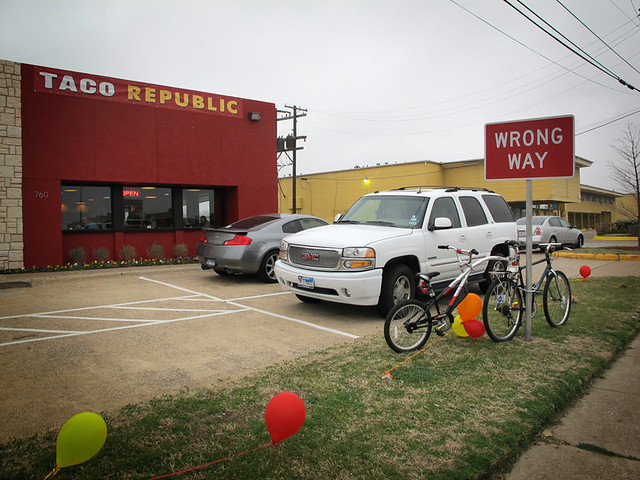 Taco Republic Parking - Wrong Way