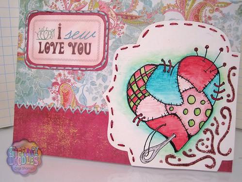 Embossed Digital Stamp Heart