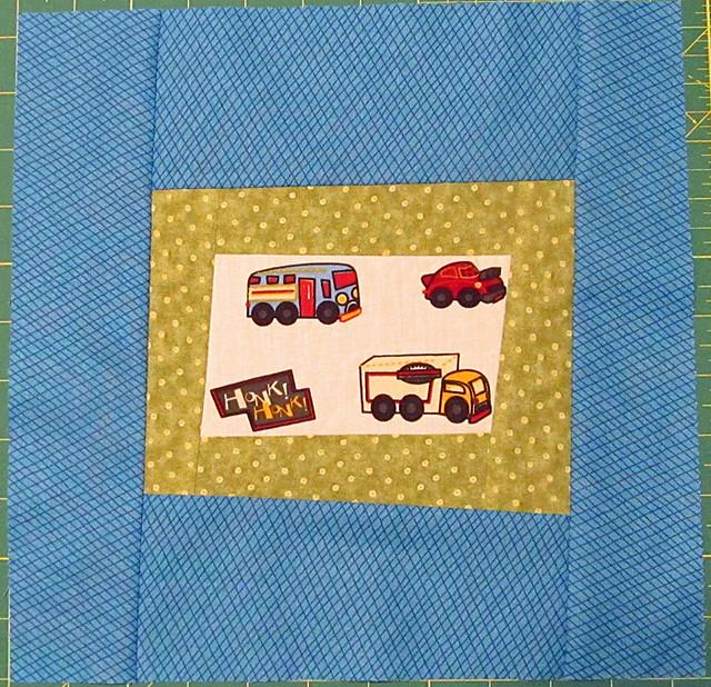 car quilt block