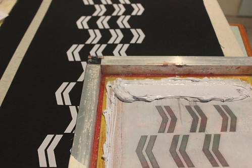 chevron screen printing