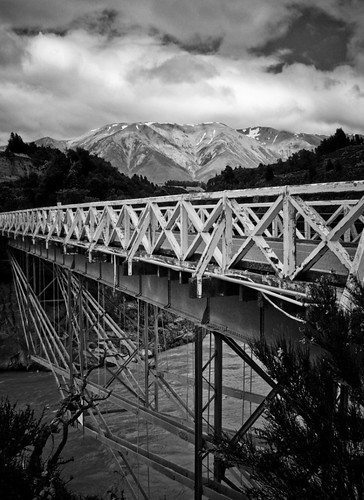 bridge newzealand mountain lake snow nature beautiful beauty river landscape scenery pretty wildlife nz flowing gushing rakaiagorge