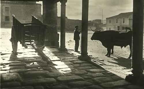 """Ávila. """"Casa de labriegos en el arrabal"""". Posada del Tio Goriche, plaza de la Feria."""