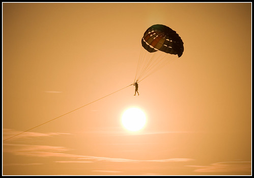 Parasailing at Sunset, Karon Beach, Phuket