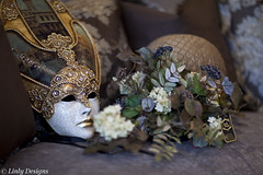 Handcrafted Mask & Floral