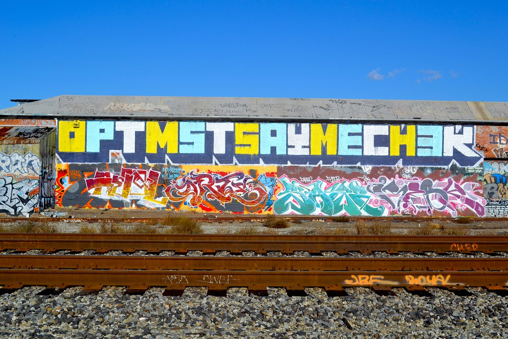 OPTIMIST, SAYME, CHECK, POP, BMB, Graffiti, the yard, Oakland