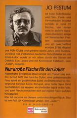 Jo Pestum: Nur große Fische für den Joker, München: Franz Schneider, 1984