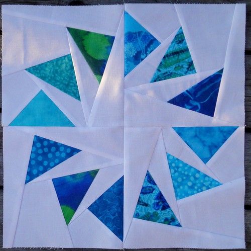 Round 4,  aquas/greens for        Trio Stitch Studio