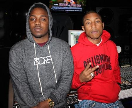 Kendrick Lamar Pharrell studio