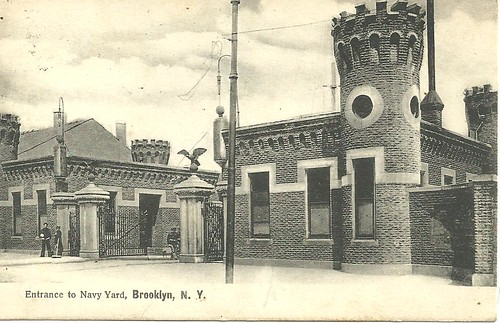 NYC Postcard - Brooklyn Navy Yard Entrance (Front)