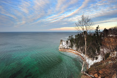 Winter at Miners Castle - Lake Superior, Pictured Rocks National Lakeshore by Michigan Nut