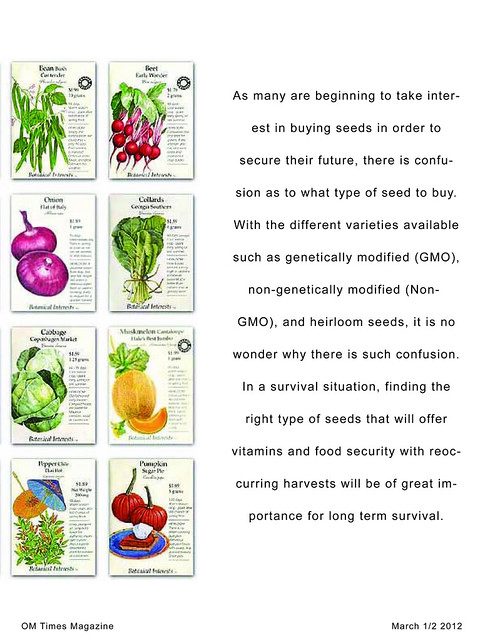 OM Times March 1/2 2012 : SOW What? Survival Seeds to Sow (pg2)