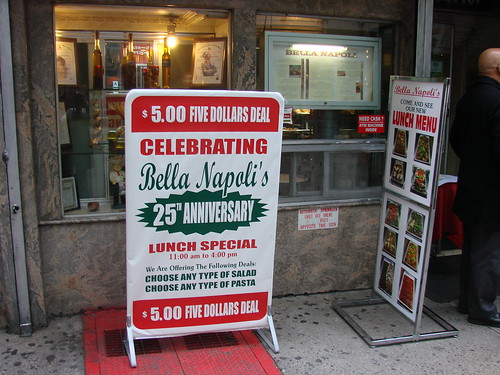 Bella Napoli Anniversary lunch deal