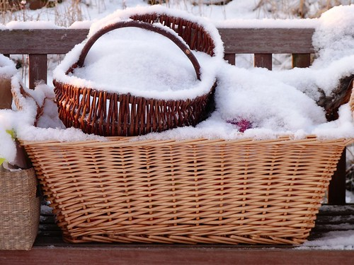 Woolbaskets in snow
