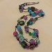 Spring garden knotted bead necklace