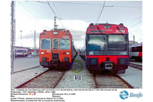 RENFE - Regionales y Cercanías - 440-112 y 440-162, Fuencarral